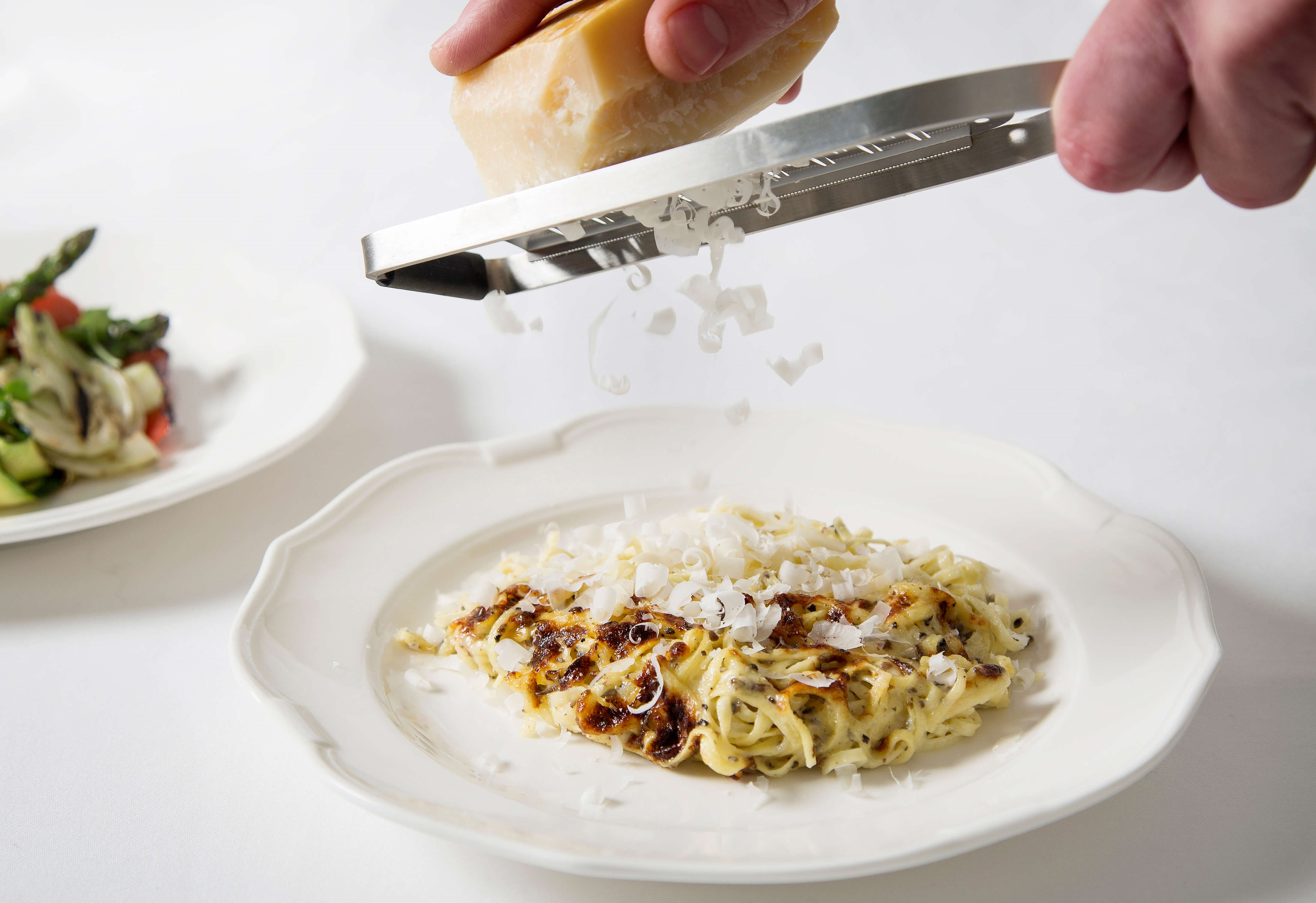 Gratinated pasta with truffle, parmesan and cream at Harry's Dolce Vita