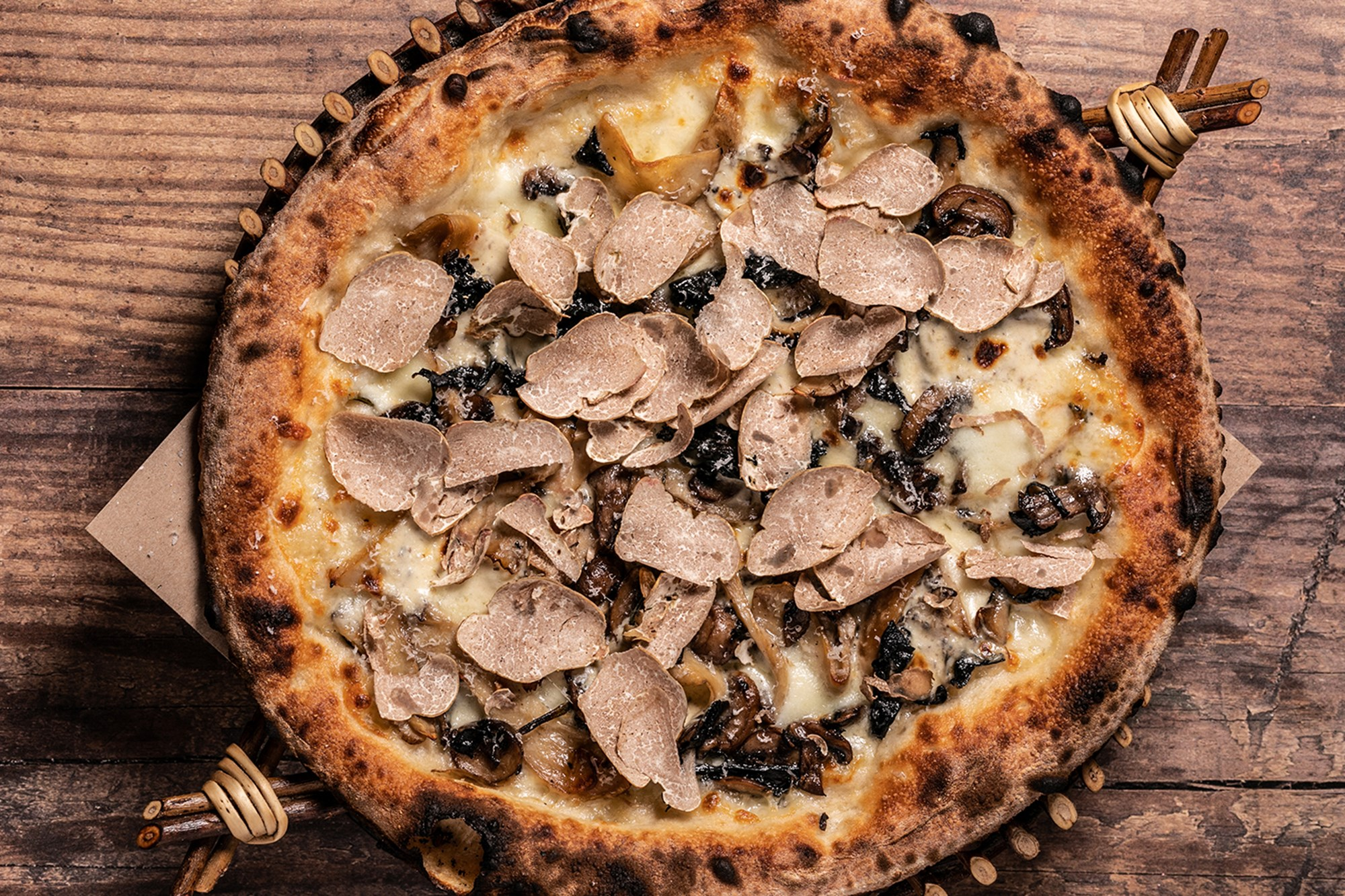 white truffle season pizza