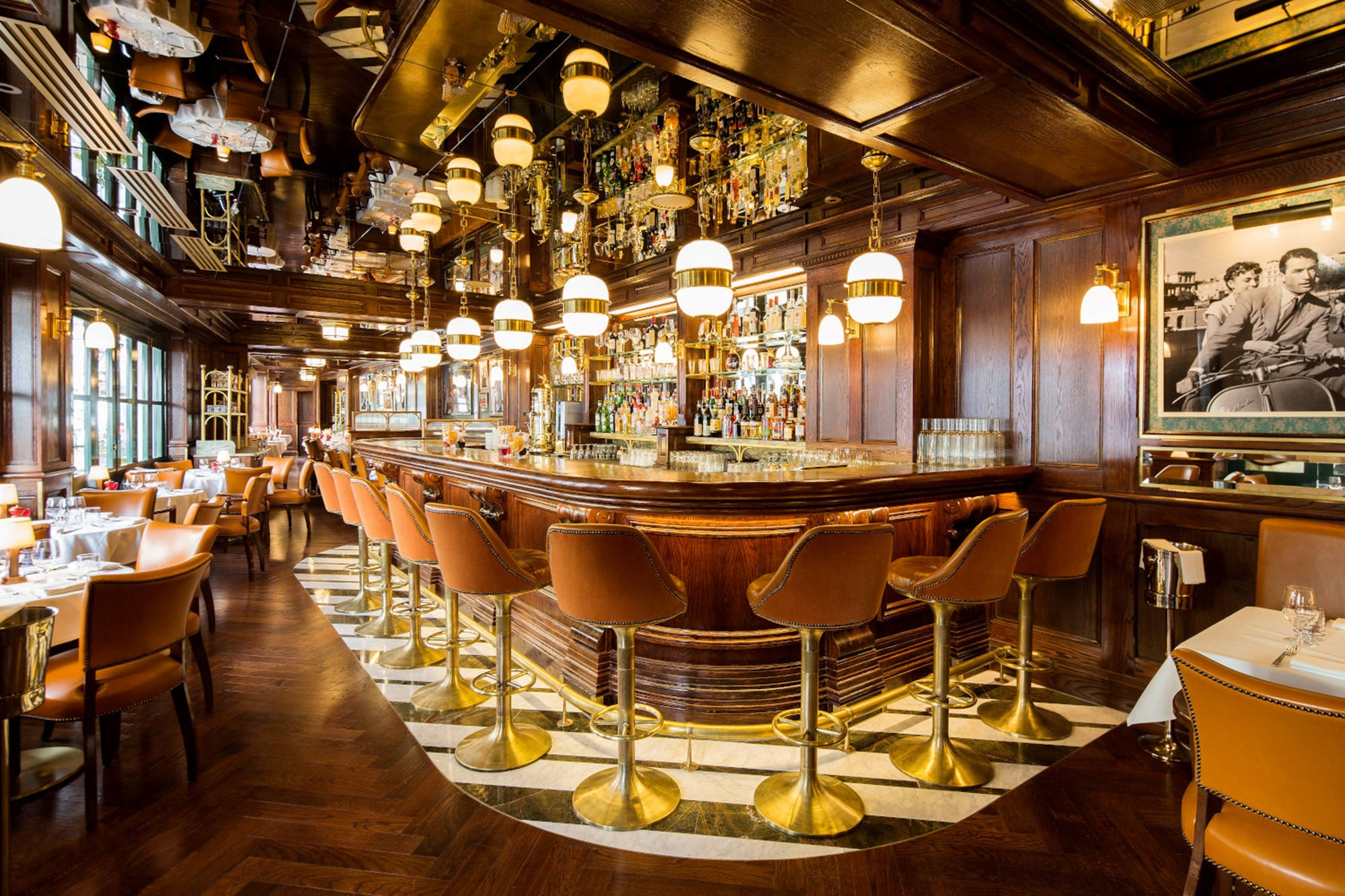 The bar at Harry's Dolce Vita Italian Restaurant in Knightsbridge